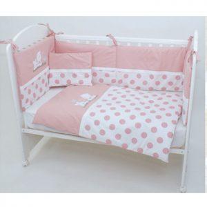 Posteljina za krevetac Montex 103 Roze