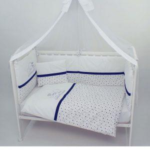 Posteljina za krevetac Montex 103 Teget