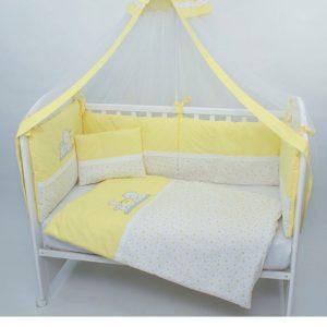Posteljina za krevetac Montex 103 Žuta