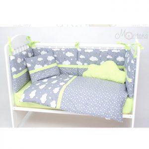 Posteljina za krevetac Montex 103a Sivo Zelena