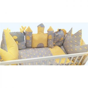 Posteljina za krevetac Ready Dvorac Žuta