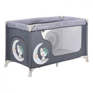 Lorelli Bertoni prenosivi krevetac 1 nivo Moonlight Grey Cute Moon