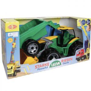 Lena veliki traktor sa kašikom i prikolicom