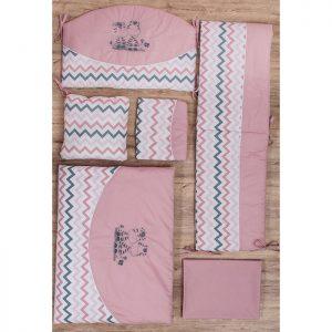 Fim posteljina za krevetac A75 zebre roze