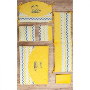 Fim posteljina za krevetac A75 zebre žuta
