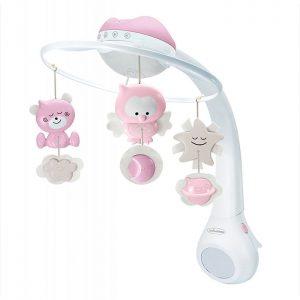 Infantino vrteška za krevetac sa projektorom Pink