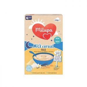 Milupa instant kaša sa mlekom Pirinač 4m+