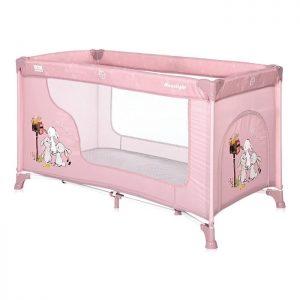 Lorelli Bertoni prenosivi krevetac 1 nivo Moonlight Beige rose rabbits